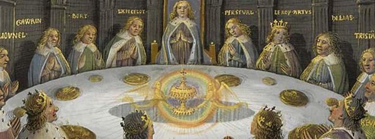 Sur les traces du roi arthur dans le comt du shropshire - La table ronde du roi arthur ...